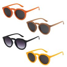 Korean Style Women Retro Sun Glasses Trendy Orange Sunglasses For UV 400