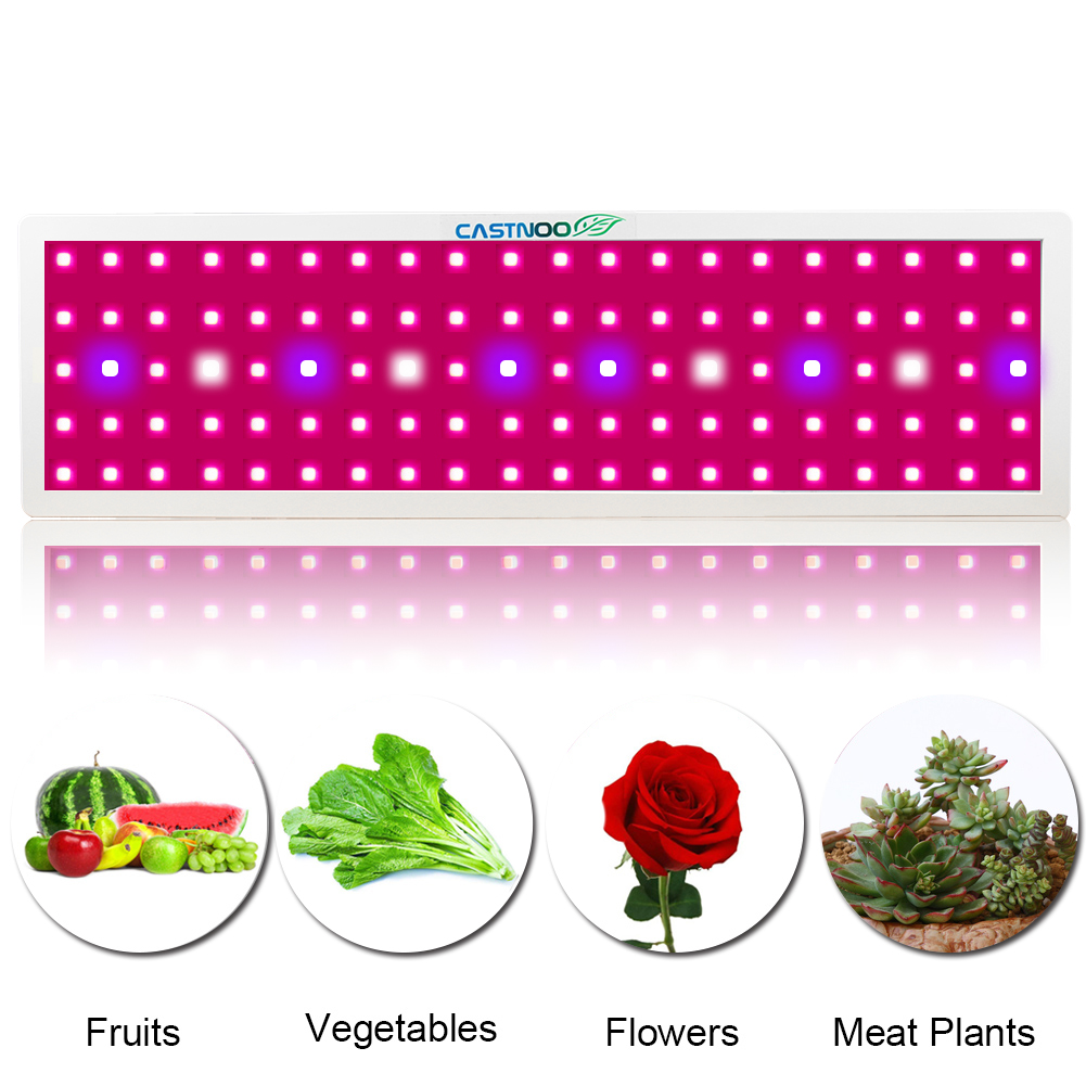 96/100/200 Leds Grow Light Panel Lamp Hydroponic Plant Growing Full Spectrum Lighting For Plants Flowers Seedling Cultivation(China)