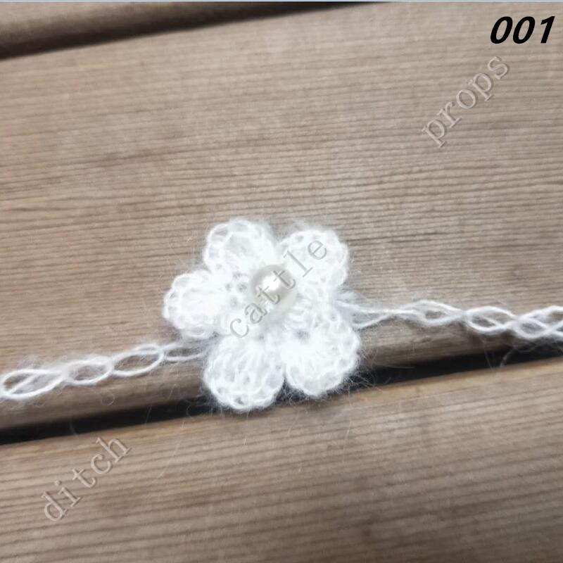 Crochet Mohair Headband With Flower Hairband Baby Girl Hair Decoration Baby Shower Gift.  Photography Props
