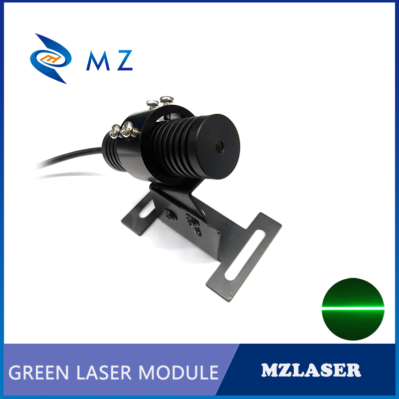 A Set Of 532nm 50mw 100mw 150mw Line Green Laser Module +Bracket + Power Supply