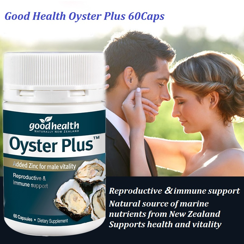 NewZealand GoodHealth Oyster Plus Marine Supplement 60Caps for Men Health Vitality Immune Support Reproductive Health Wellbeing 1