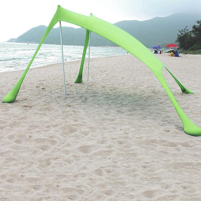 210 × 210Cm plage extérieure Kale auvent ombre tente Camping Cool crème solaire Uv auvent Portable Camping pêche tente - 6