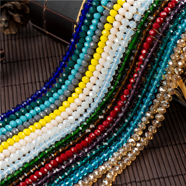 Colorful 2mm/ 4mm/6mm Crystal Rondell Faceted Glass Beads Small Sead for Jewelry Making Diy Accessories