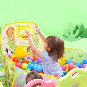 Image 2 - جديد لعب خيمة المحيط سلسلة الكرتون لعبة الكرة حفر المحمولة بركة طوي الأطفال الرياضة في الهواء الطلق لعبة تعليمية مع سلة