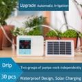 20 m bomba dupla inteligente jardim automático rega dispositivo de energia solar chargingpotted planta sistema temporizador irrigação por gotejamento