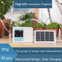 20M Double pump Intelligent Garden Automatic Watering Device Solar Energy ChargingPotted Plant Drip Irrigation Timer System