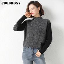 Coodrony брендовая уличная мода мягкие трикотажные теплые Джемперы