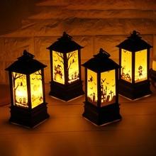 Decoración para colgar en fiestas lámpara de luz LED luz nocturna portátil Halloween linterna Vintage