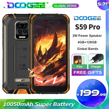 Doogee S59 Pro Robuste Handy 10050mAh Super Batterie 4GB + 128GB 5.71 ''Android 10,0 Globale frequenz bands Handy