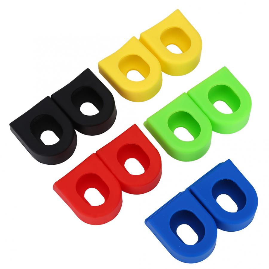 2pcs Bicycle Crank Protector Case Bike Sleeve Soft Cover Road Bicycle Universal Sprocket Crank Arm Protect Boot Cap