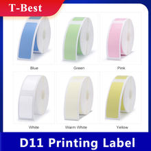 D11 etiqueta de superfície, etiqueta de preço à prova d'água anti-óleo resistente etiqueta de cor pura resistente a arranhões de papel rolo de rolo