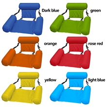 Folding Floating Bed Swimming Pool Inflatable Water Hose Chair With Back Beach Swimming Pool Entertainment Bedding