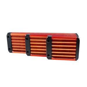 Image 5 - 120/240/360mm watercooling todo o radiador de cobre para o mestre 30mm do refrigerador do dissipador de calor do computador do fã 12cm espessura prata/preto, vermelho v3