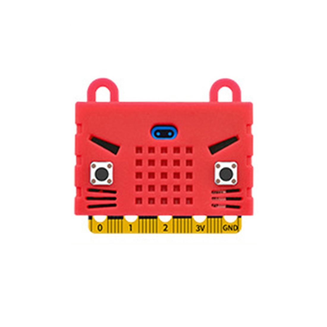Экологичное уплотнение/тигр/в форме кота силиконовый защитный корпус Крышка корпуса для Micro: Плата расширения бита Bue/красный/оранжевый - Цвет: 6