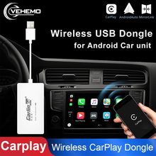 Wireless Bluetooth Smart CarPlay USB Dongle For Android GPS Navigation Player With Android Auto Mirror Link For Apple Car play
