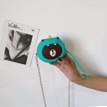 Girl Wallet Bag Ladies Animal Zipper Mini 3D Dinosour Cartoon Silicone Coin Purses Children Toys Change Pouch Storage Money Keys недорого
