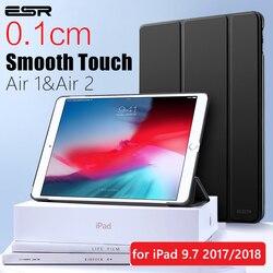 Чехол ESR для iPad Air 1 Air 2 9,7 2018 крышка отделения для резинового масла мягкая искусственная кожа ультра тонкий черный синий розовый умный чехол д...