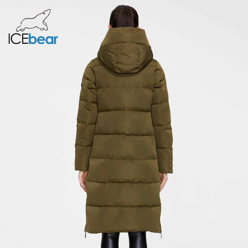 Icebear 2019 Nieuwe Winter Vrouwen Jas Hoge Kwaliteit Lange Vrouw Jas Hooded Vrouwelijke Parka Stijlvolle Vrouwen Merk Kleding GWD19507I