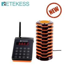 RETEKESS TD156 Wireless restaurant Paging Queue System coaster pager waiter calling system for coffee shop