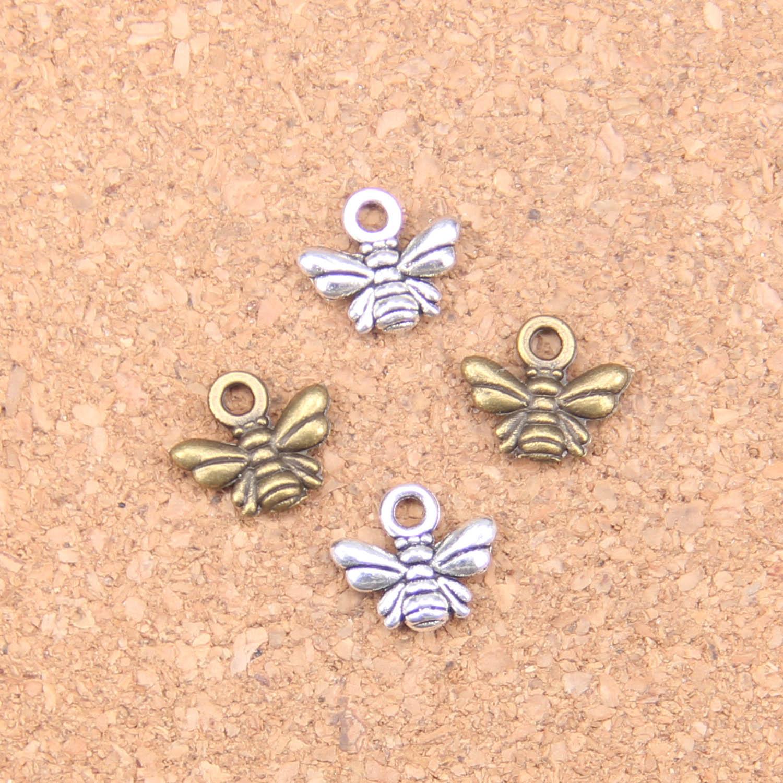 280 шт. Подвески в виде пчелы 10x11 мм старинные подвески, Винтаж ювелирные изделия из тибетского серебра, «сделай сам» для браслетов и ожерелий