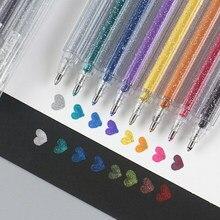 8 ピース/セット色蛍光ペンケバケバグリッターカラーアートマーカーペンを描画するためのスクラップブックアルバムdiy学校文房具