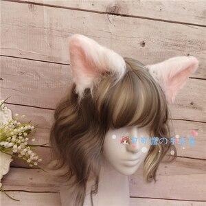 Image 5 - Cosplay hecho a mano de felpa, orejas de gato, orejas de perro, orejas de Lobo, horquilla de animal, madre, lolita
