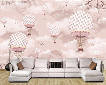 beibehang Customized modern fashion decorative painting three-dimensional classic wallpaper hot air balloon background