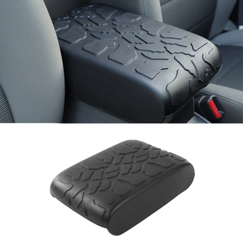 Center Console Armrest Pad Cover for Jeep Wrangler JK 2007 2008 2009 2010 Car Interior Accessories Rubber Black 1pcs Styling