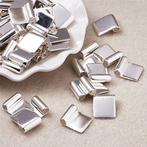 Image 4 - 100pcs Silver Color Brass Glue on Flat Pad Bails for Jewelry Making DIY Accessories Findings 18x15.5mm Hole: 4.5mm