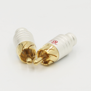 Image 3 - 4PCS Audio signal cable lotus plug rca plug socket  rca head audio cable plug