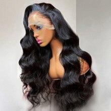 30 pollici onda del corpo 13X6 parrucche del merletto capelli umani sciolti Glueless 13X4 4X4 pizzo frontale brasiliano capelli vergini densità 180% per le donne