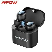 Mpow T2 bezprzewodowe słuchawki douszne Bluetooth 5.0 douszne słuchawki Stereo TWS Mini przenośne słuchawki z wbudowany mikrofon dla iPhone Android