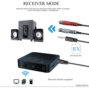 Image 4 - KEBIDU 3 في 1 Bluetooth5.0 استقبال الارسال الصوت ستيريو الموسيقى محول سيارة يدوي دعوة و ميكروفون مع زر التبديل