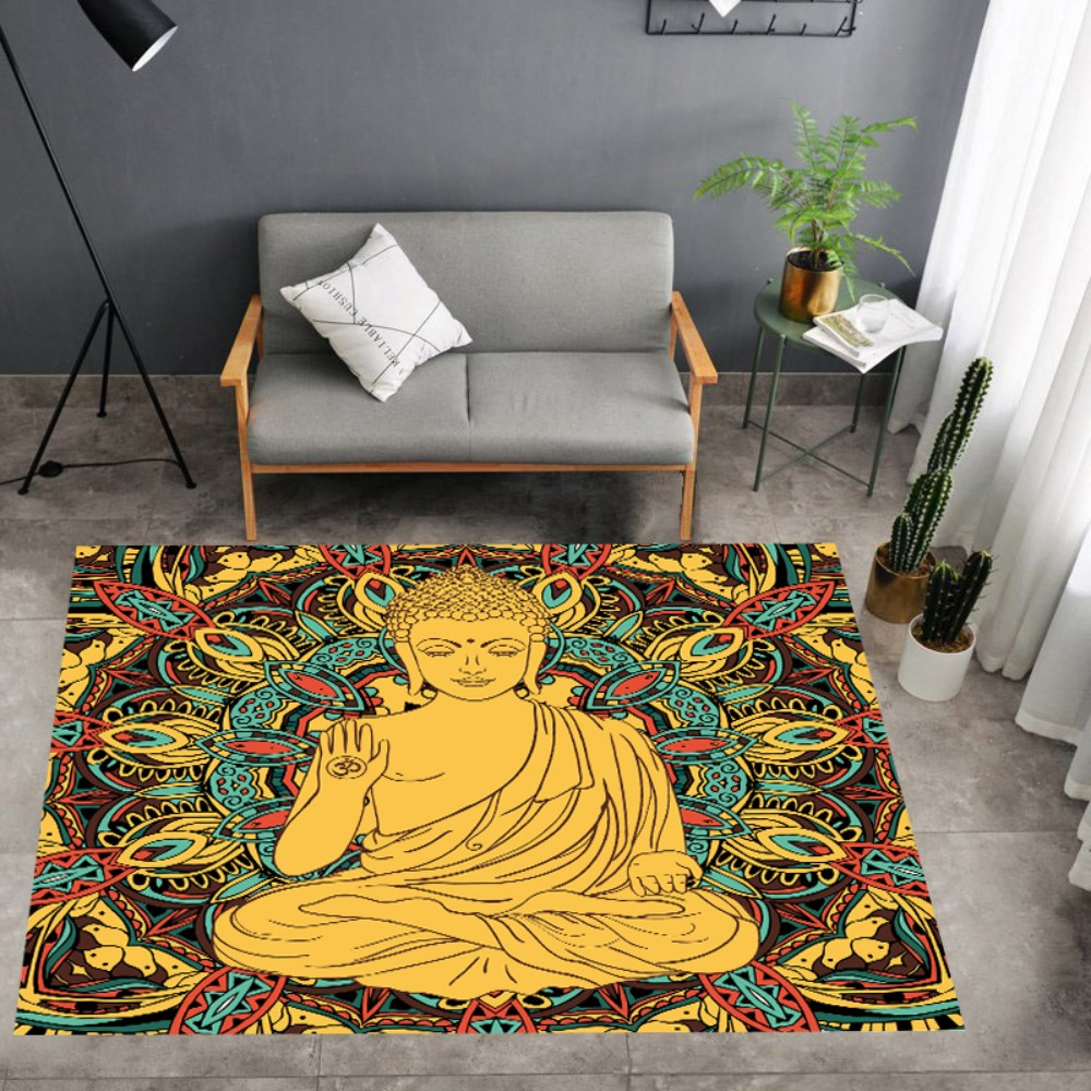 Print Buddhist India Rug Buddha