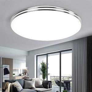 Image 1 - LED Ceiling Light 72W 36W Down Light Surface Mount Panel Lamp AC 220V 3 Colors Change Modern Lamp For Home Decor Lighting