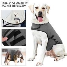 Pet kurtka dla psa kamizelka odblaskowa dla małych średnich duży pies grzmot koszula ubrania pies lęk kamizelka produkt dla zwierząt S-L tanie tanio CN (pochodzenie) Wszystkie pory roku Stałe cloth Gray S M L