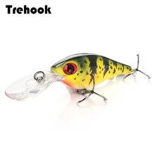 TREHOOK ลอย Wobbler Minnow ตกปลาล่อ Crankbait 10cm 10g Rattlings Pesca ปลาคาร์พ Swimbait Crankbait เหยื่อตกปลาเหยื่อ HARD