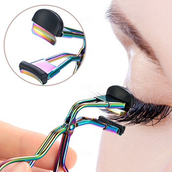 1PCS Newest Fashion Mini Eyelash Curler Stainless Steel Portable Curling Eyelashes Auxiliary Tools Eye Make Up Tools Hot Sale 1