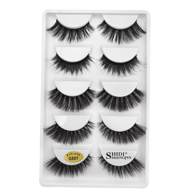 YSDO Lashes 1 box mink eyelashes natural long 3d mink lashes hand made false lashes plastic cotton stalk makeup false eyelash G8 2