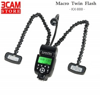 Macro Twin Flash KX 800 KUANGREN Professional Retractable Macro Ring Flash Light for Canon Nikon Pentax Sony Olympus DSLR