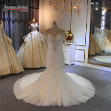 Mermaid suknie ślubne afryka 2020 koronkowe aplikacje suknia ślubna suknia ślubna szyta na zamówienie suknia vestidos de noiva