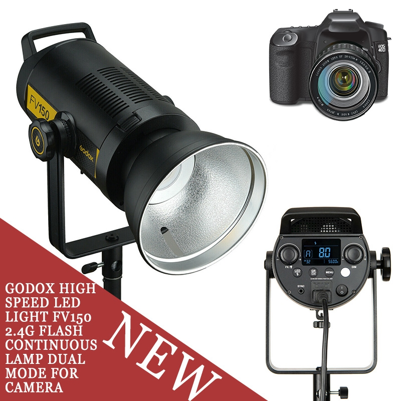 Godox High Speed LED Light FV150 2.4G Flash Continuous Lamp Dual Mode For Camera Parts Accessory