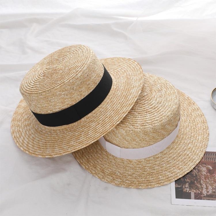 Hat Panama Straw Fedora Trilby Cap Sun Travel Brim Wide Ladies Summer Boater