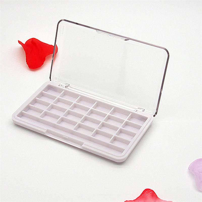 Empty 24 Grids Makeup Palette Eyeshadow Case Container For Cosmetics Eyeshadow Lip Balm Blusher