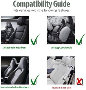 Image 5 - Universal PU Leather Car Front Seat Covers High Back Bucket Seat Cover Fit Most Cars, Trucks, SUVS, 2 PCS Auto Seat Covers