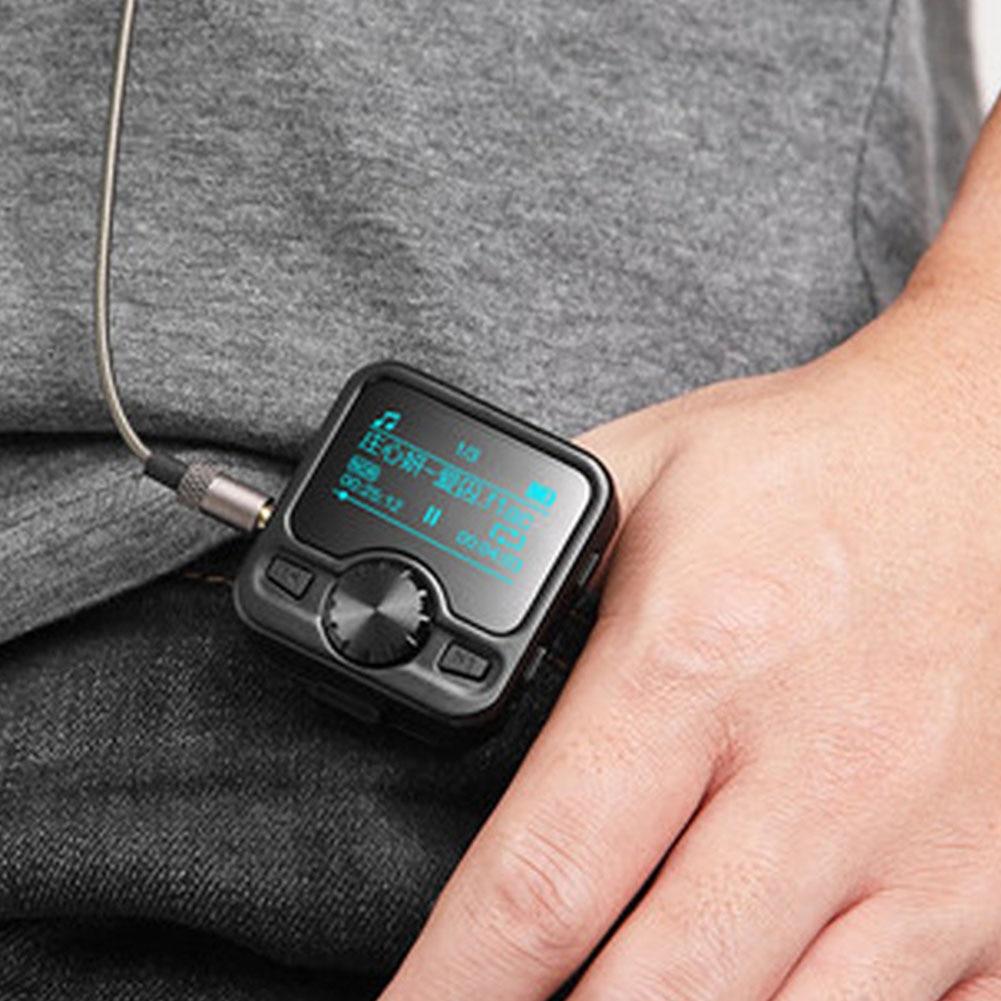 8GB Metal Shell USB Charging Wireless Mini FM Radio MP3 Digital Display Bluetooth Music Player With Earphone Voice Recorder