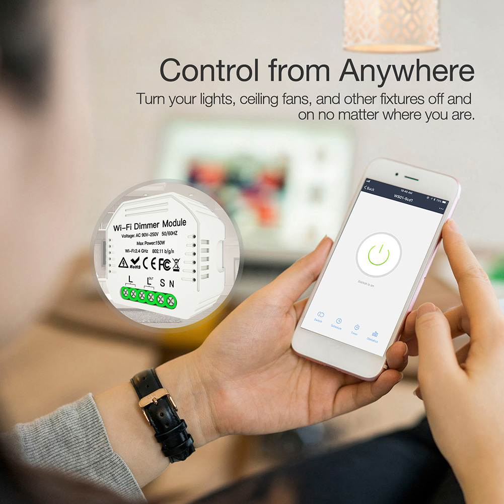 2 way interruptor de trabalho com alexa eco google dimmer modulo 03