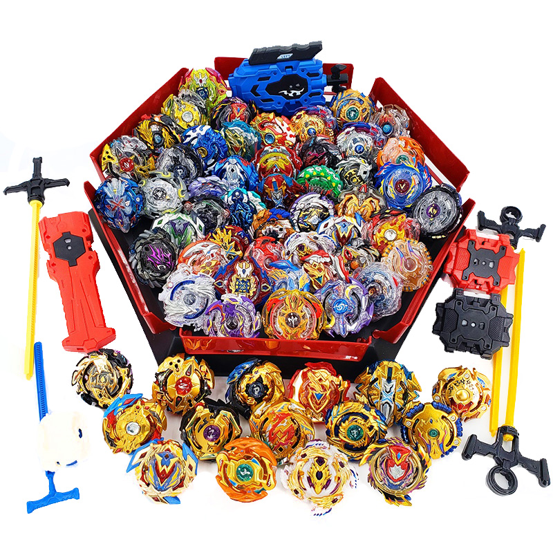 Tops Set Launchers Beyblade Arena Spinning Top Metal Fight Bey Blade Metal Burst Bayblade Stadium Children Gifts Classic Toy