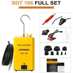 Autool sdt106 máquina analisador de fumaça do carro detector de vazamento de gás evap automotivo localizador tubo óleo gerador ferramenta diagnóstico
