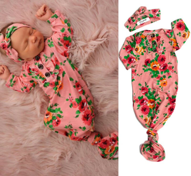 0-6 Months Baby Girls Sleeping Bags Newborn Baby Infant Swaddle Wrap Blanket Sleeping Bag +Headband Baby Girls Sleep Sacks